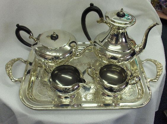 Silver Tea Service - 5 Pieces Stainless Image