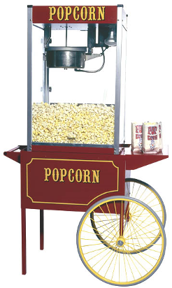 Popcorn Machine on Cart Image
