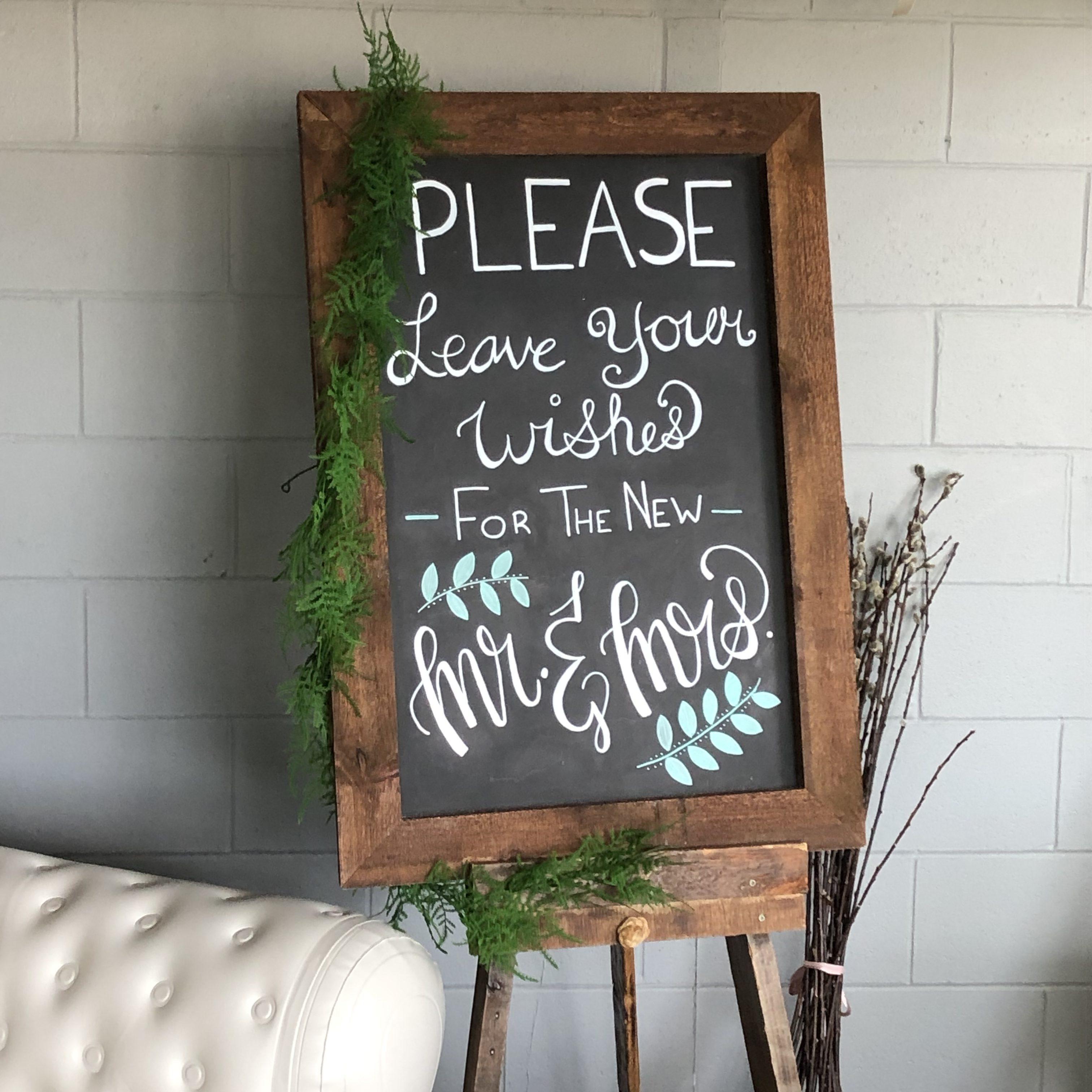 Rustic Chalkboard Image