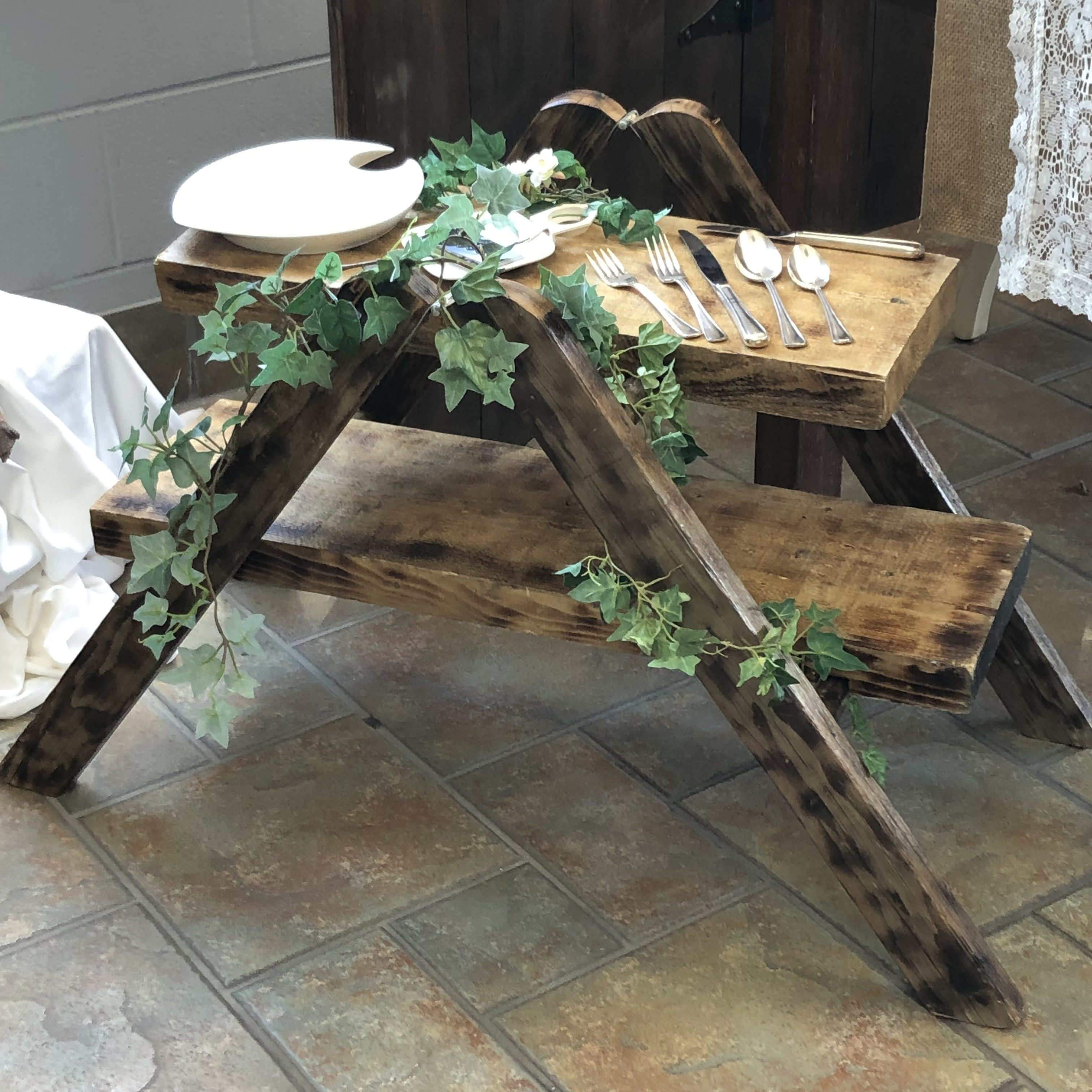 Rustic Ladder Display Stand Image