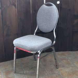Grey Padded Dining Chair Image