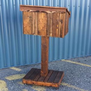 Rustic Wooden Podium Image