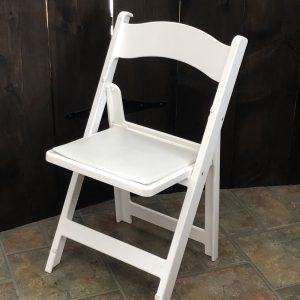 White Padded Folding Chairs Image