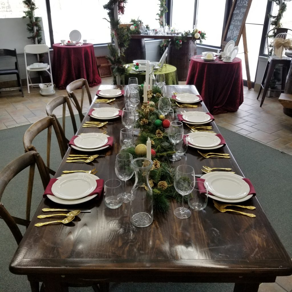 Rustic Harvest Table Image