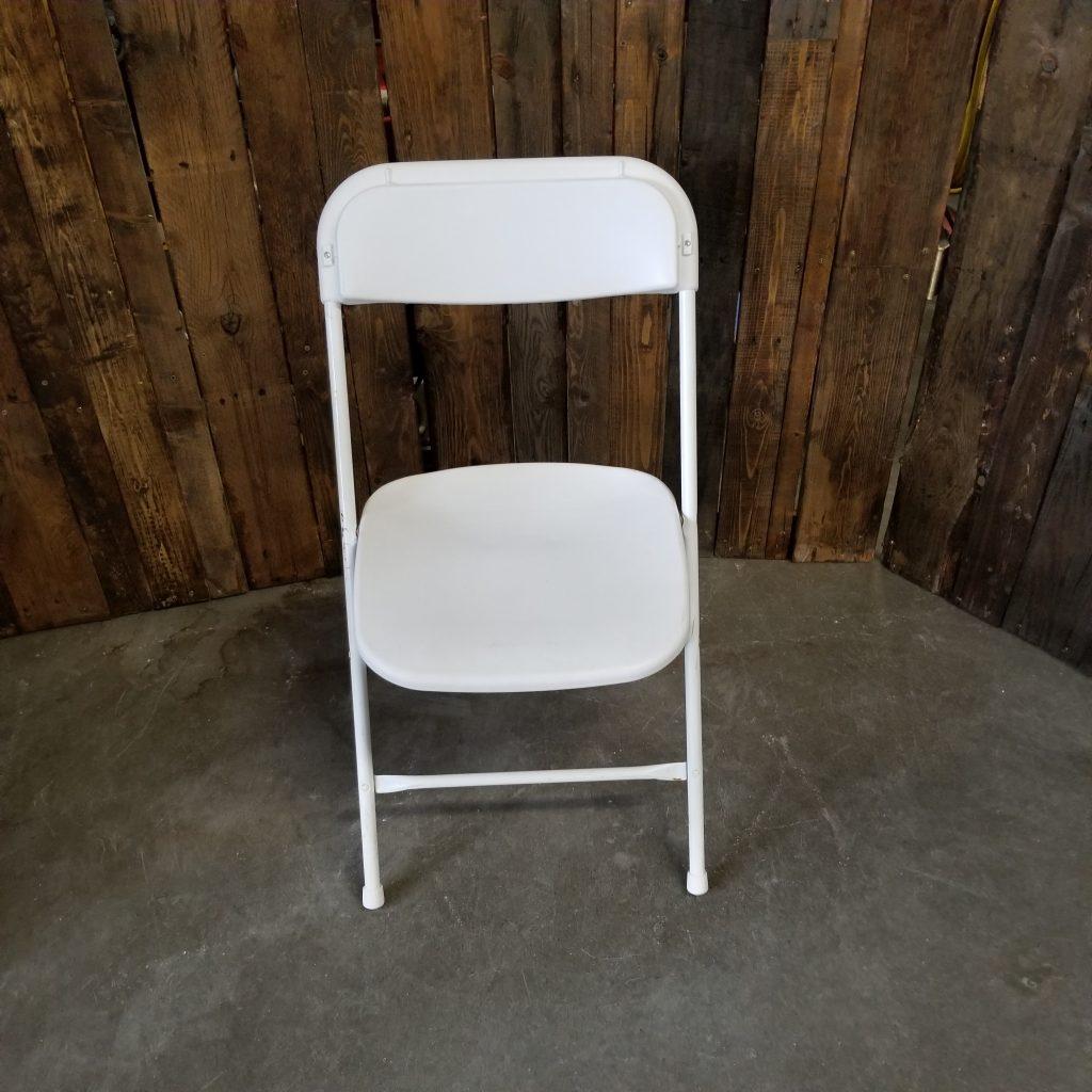 White Folding Chairs Image