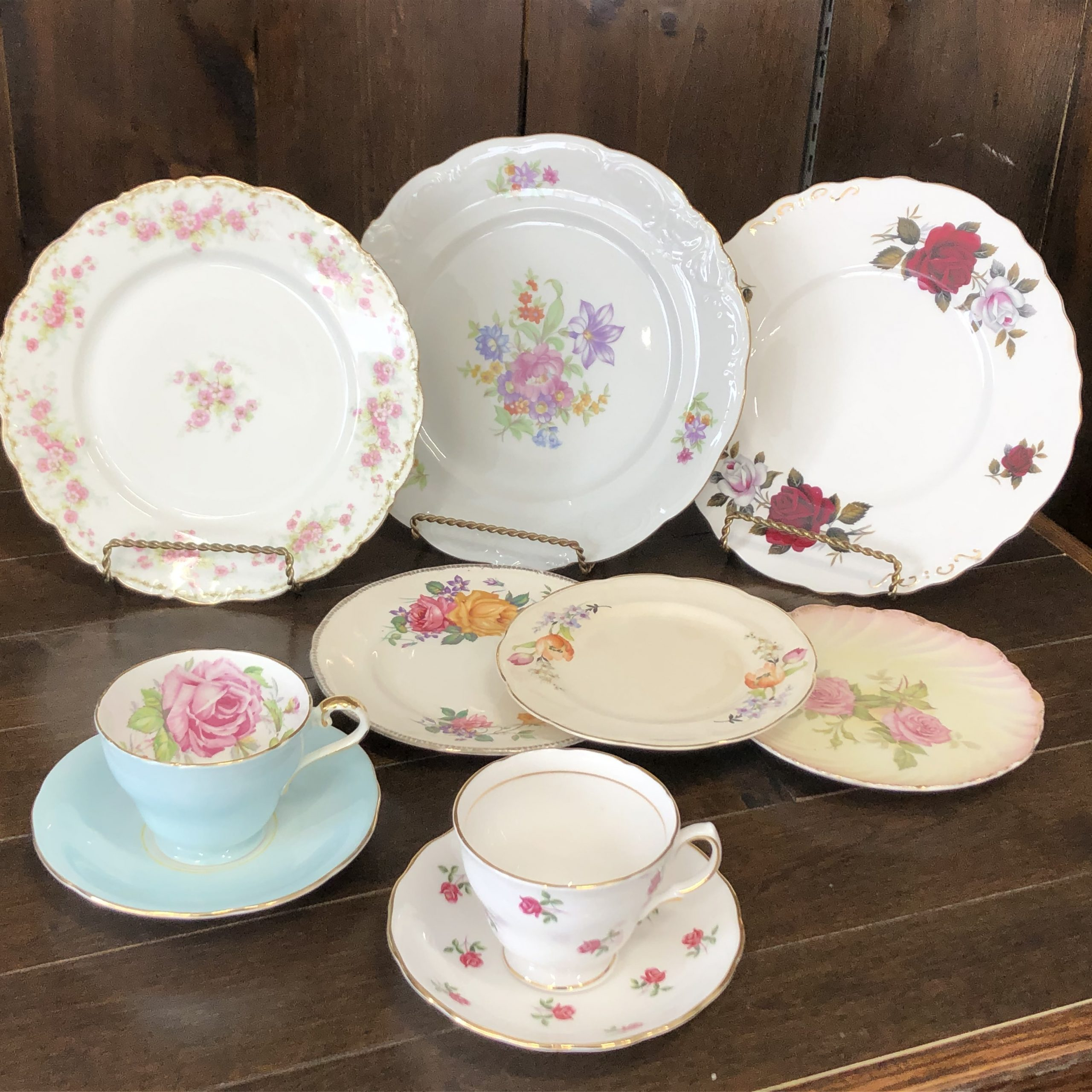Vintage China Dishware Setting Image