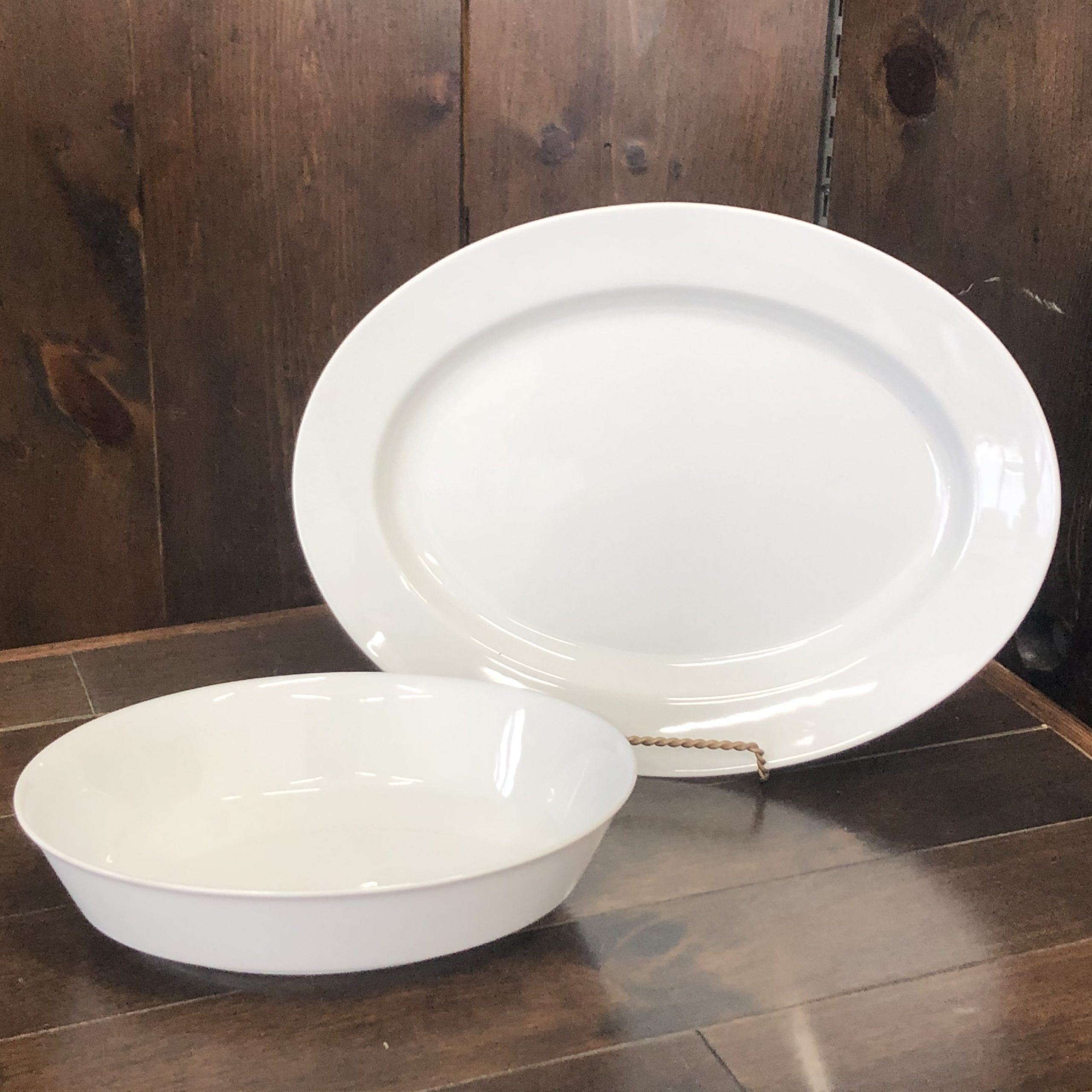 Clear White Serving Bowls & Meat Platters Image