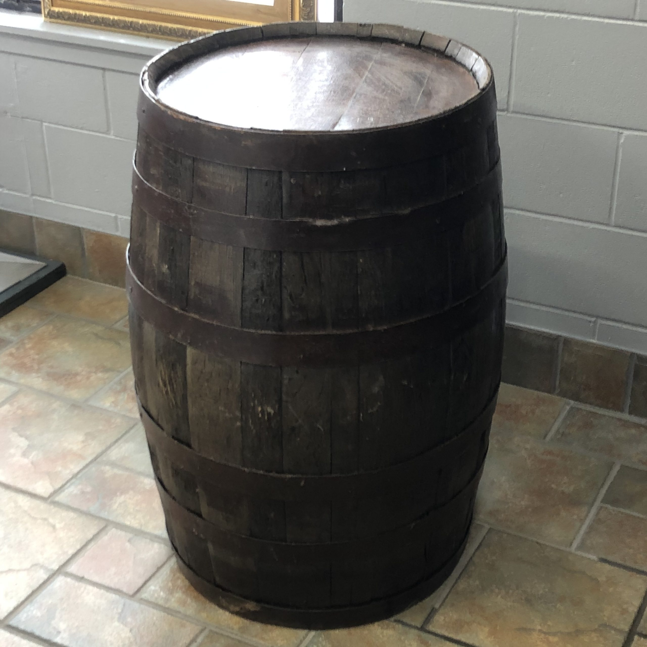 Whiskey Barrel Cocktail Table Image